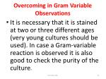 overcoming in gram variable observations