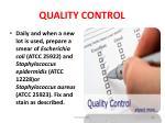 quality control64