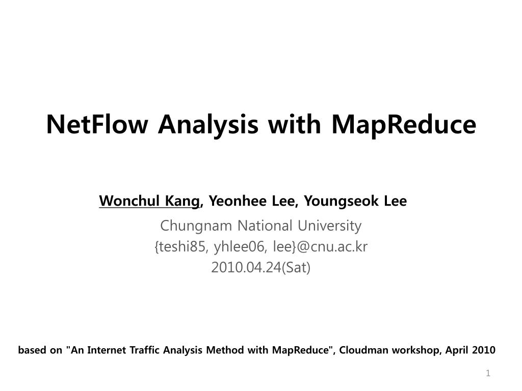 netflow analysis with mapreduce l.