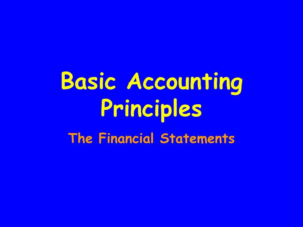 basic accounting principles l.