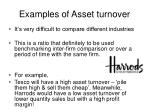 examples of asset turnover