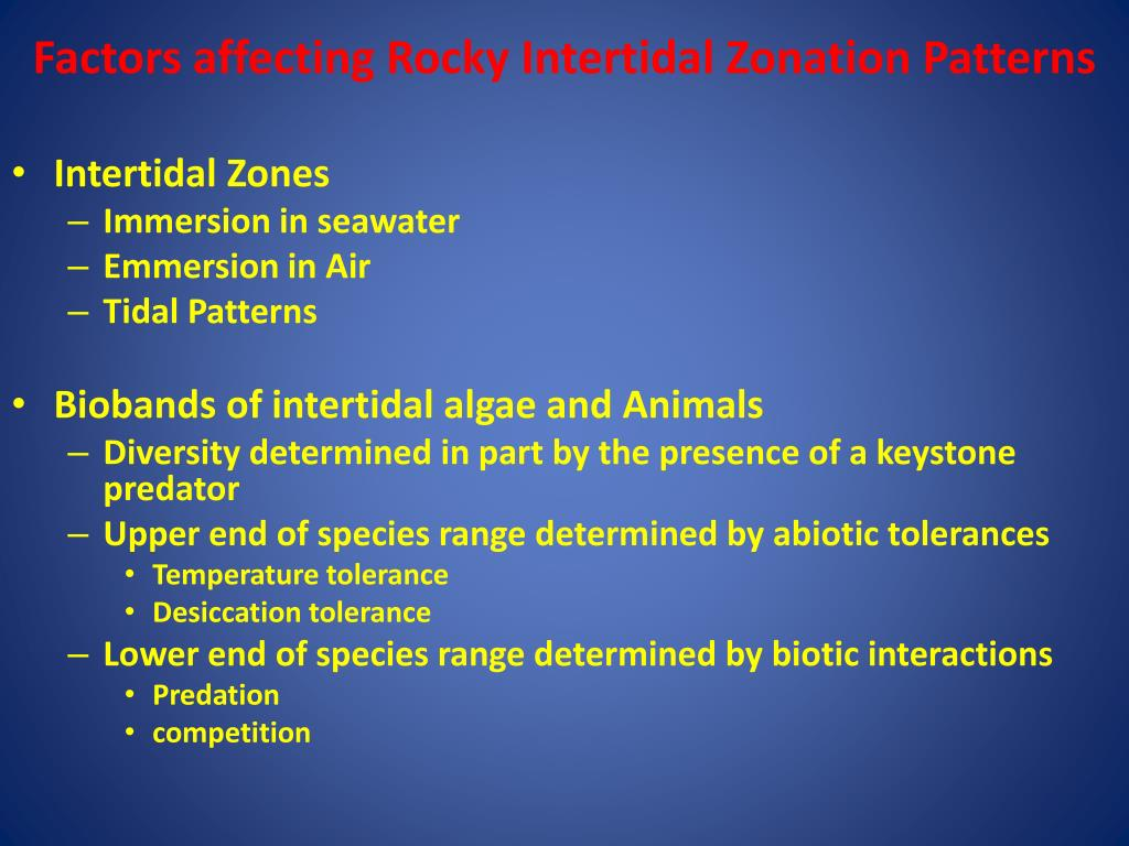 ppt - factors affecting rocky intertidal zonation patterns