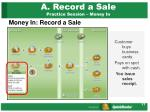 a record a sale practice session money in