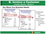 b invoice a customer practice session money in22