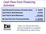 cash flow from financing activities