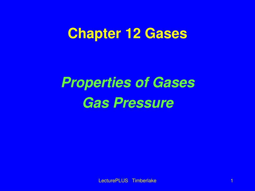 chapter 12 gases l.