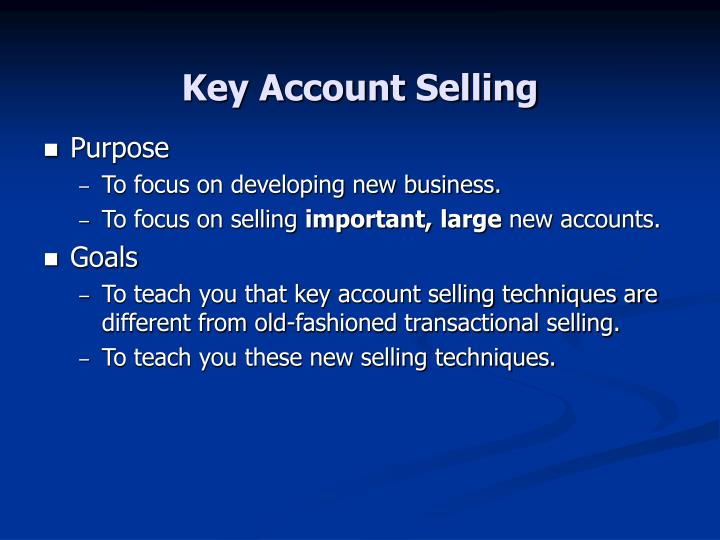 Key account selling2