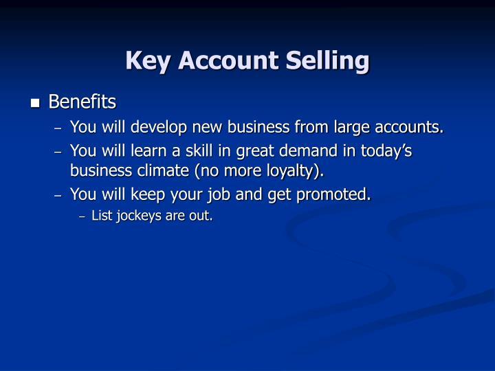 Key account selling3