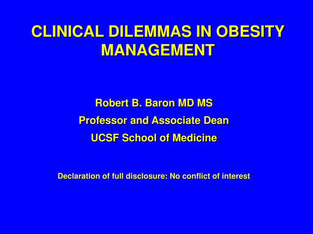 clinical dilemmas in obesity management l.
