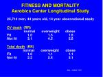 fitness and mortality aerobics center longitudinal study