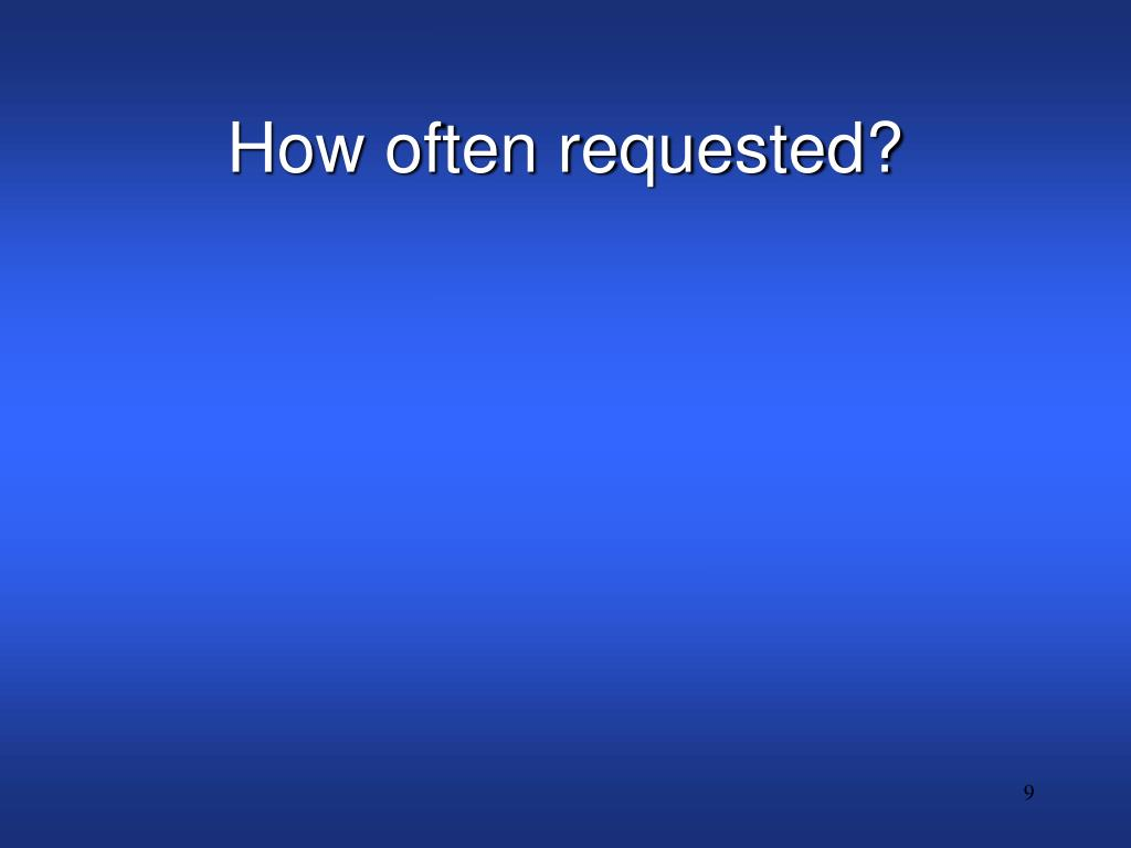 How often requested?