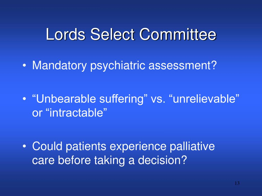 Lords Select Committee