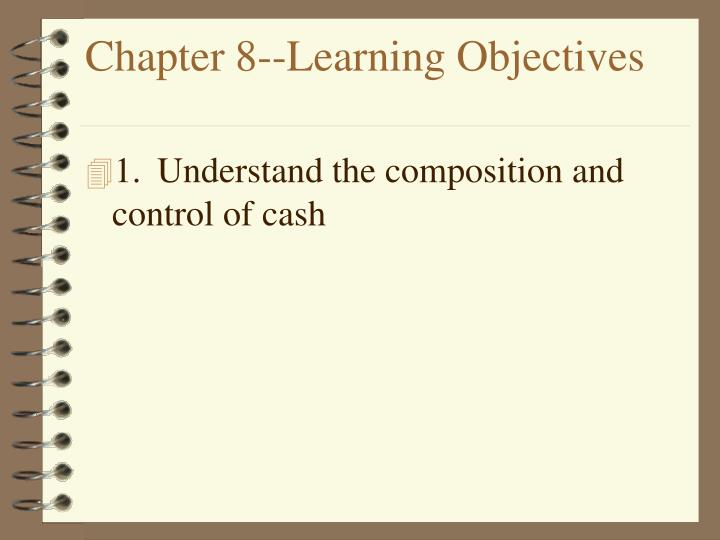 chapter 8 learning objectives n.