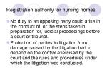 registration authority for nursing homes22