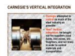 carnegie s vertical integration