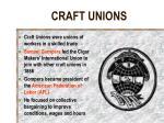 craft unions