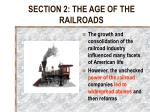 section 2 the age of the railroads