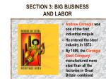 section 3 big business and labor