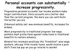 personal accounts can substantially increase progressivity