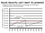 social security can t meet its promises