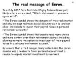 the real message of enron