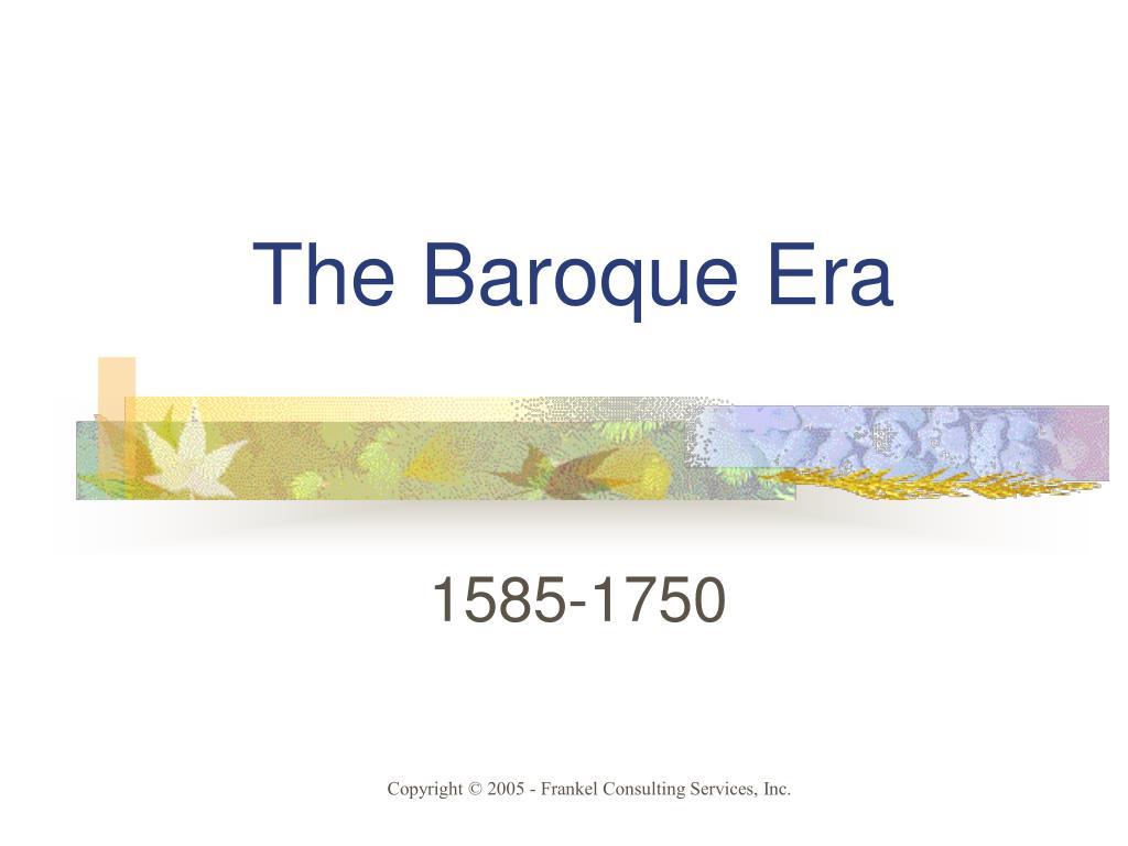 the baroque era l.