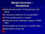 market overview residential