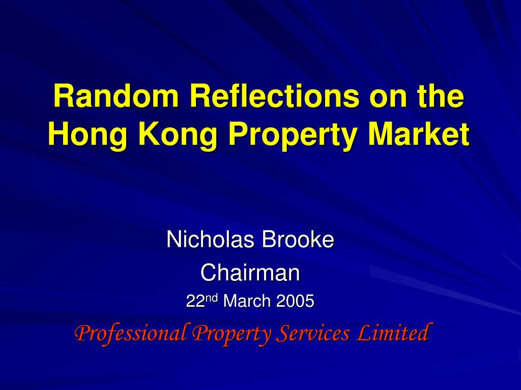 random reflections on the hong kong property market l.