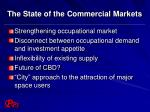 the state of the commercial markets