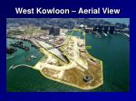 west kowloon aerial view