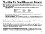 checklist for small business owners