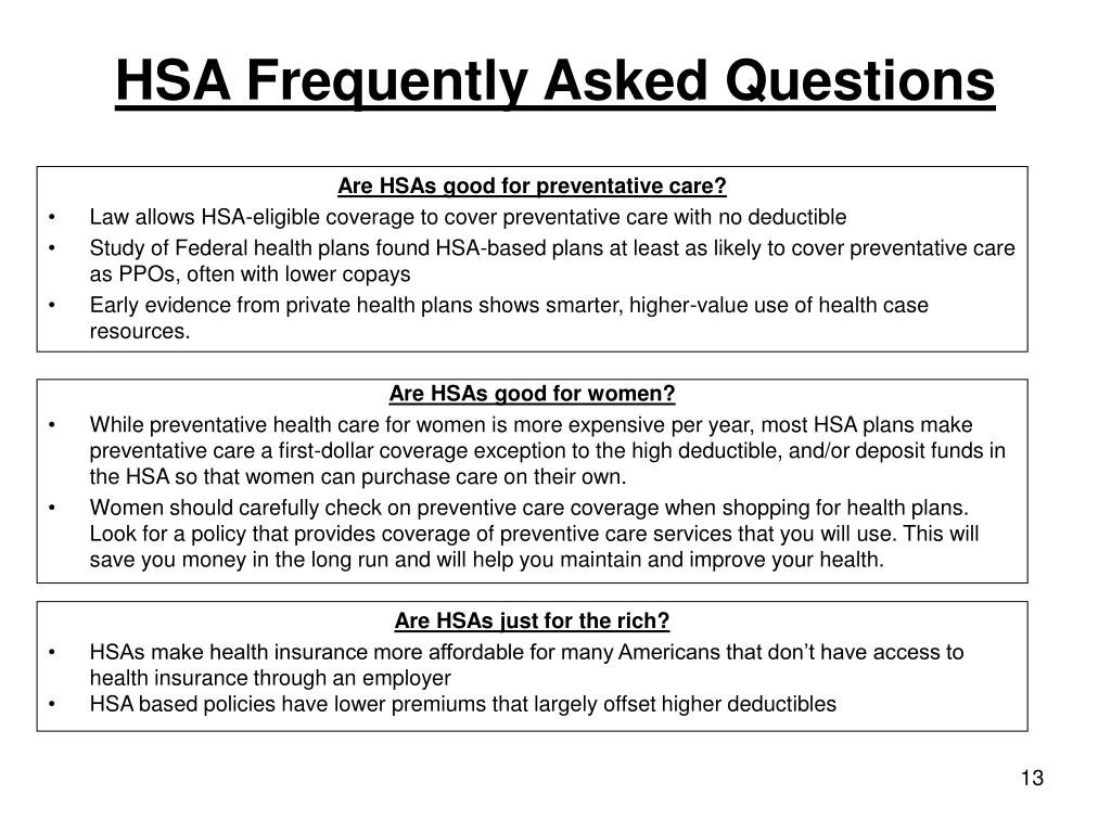 HSA Frequently Asked Questions