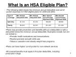 what is an hsa eligible plan