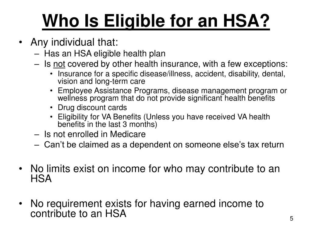 Who Is Eligible for an HSA?