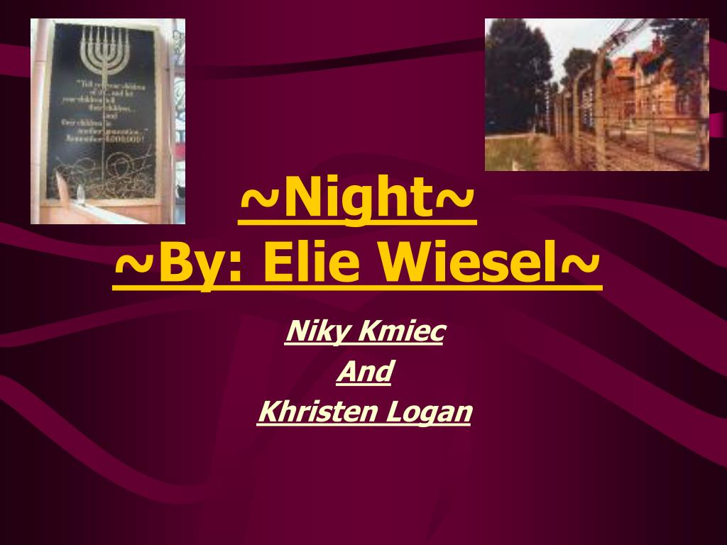 night by elie wiesel the use of storytelling to portray the terrifying nature of holocaust Pre-activity for night by elie wiesel this is fitting and terrifying holocaust elie wiesel night to show utopias (or are they dystopias use this.
