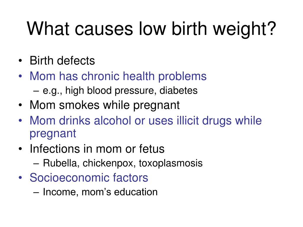What causes low birth weight?