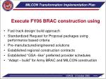 milcon transformation implementation plan