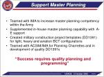 support master planning