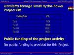 damietta barrage small hydro power project ers