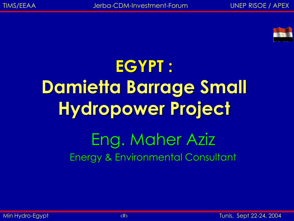 egypt damietta barrage small hydropower project l.