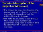technical description of the project activity contd