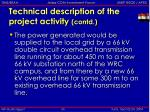 technical description of the project activity contd5