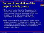 technical description of the project activity contd8