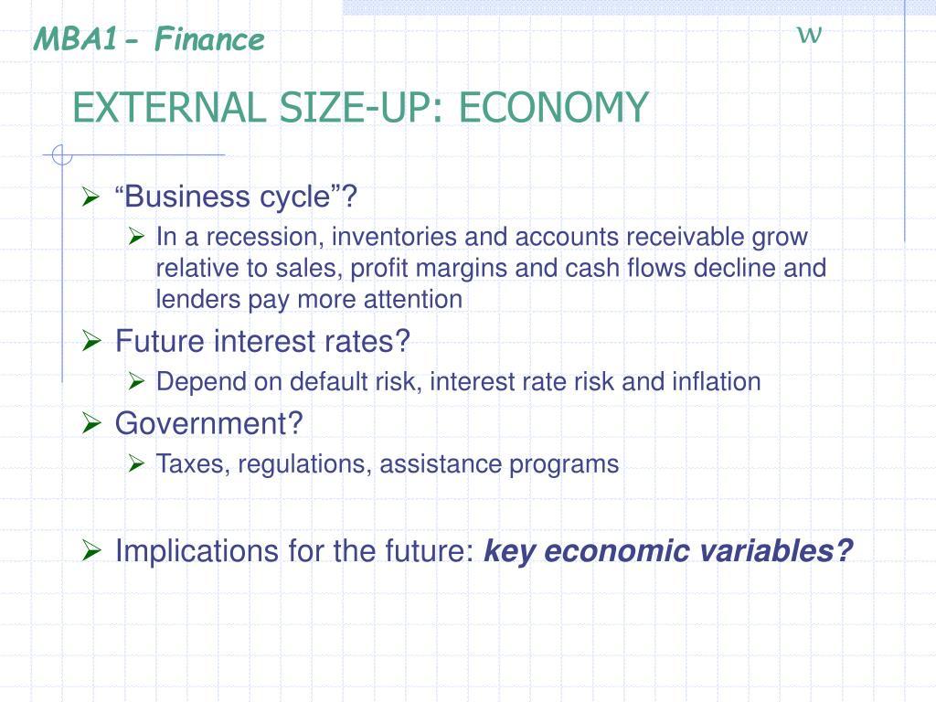 EXTERNAL SIZE-UP: ECONOMY
