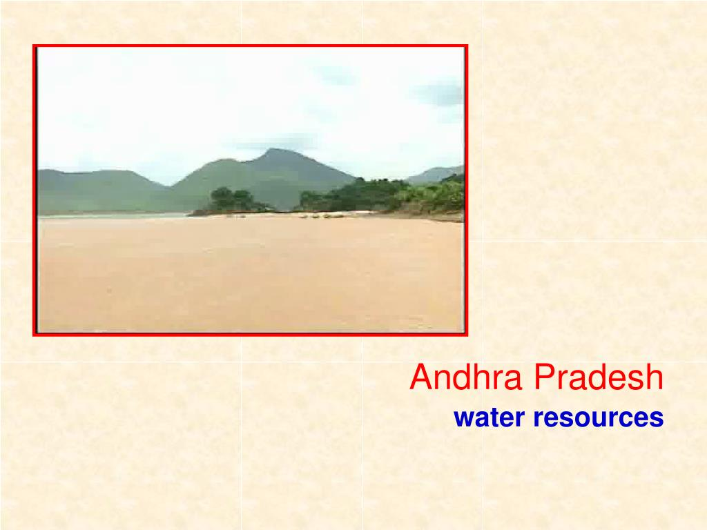 andhra pradesh water resources l.
