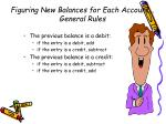 figuring new balances for each account general rules