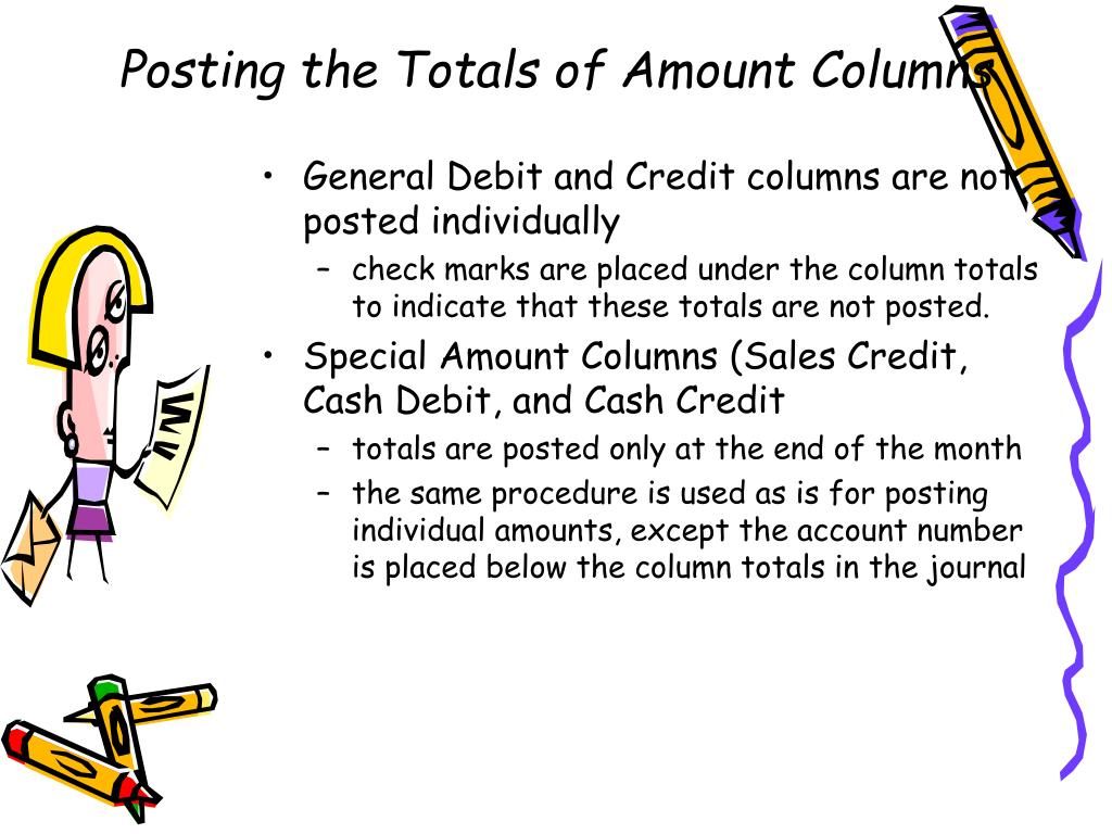Posting the Totals of Amount Columns