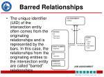barred relationships