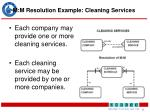 m m resolution example cleaning services