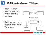 m m resolution example tv shows